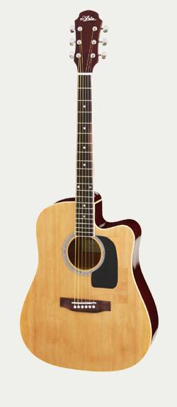 Akustisk gitarr, Aria AW15CE, Cutaway