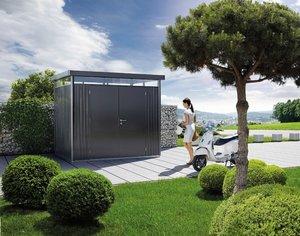 Trädgårdsskjul HighLine H4, Standarddörr